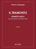 Il Tramonto Conducteur Ottorino Respighi Partition laflutedepan.com
