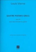 4 Poèmes Grecs Opus 60 Louis Vierne Partition Harpe - laflutedepan.com