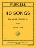 40 Songs. Voix Grave Henry Purcell Partition laflutedepan.com