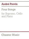 4 Songs André Prévin Partition Violoncelle - laflutedepan.com