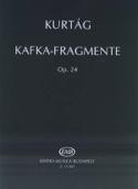 Kafka-Fragmente Opus 24 - György Kurtag - Partition - laflutedepan.com