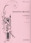 2 Gesänge Opus 91 - Johannes Brahms - Partition - laflutedepan.com