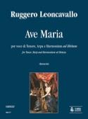Ave Maria Ruggiero Leoncavallo Partition Harpe - laflutedepan.com