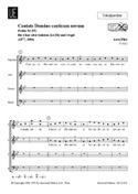 Cantate Domino Canticum Novum. Choeur seul PÄRT Partition laflutedepan