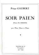Soir Païen Philippe Gaubert Partition laflutedepan.com