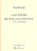 Last Poems Of Wallace Stevens - Ned Rorem - laflutedepan.com
