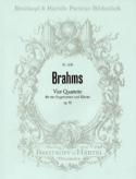 4 Quartette Opus 92 BRAHMS Partition Chœur - laflutedepan