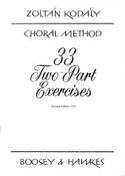 33 2-Part Exercices Zoltan Kodaly Livre Chœur - laflutedepan.com