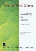Sonate 1 1933 Glaser Partition Piano - laflutedepan.com