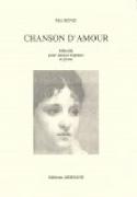 Chanson D'amour Mel Bonis Partition Mélodies - laflutedepan.com