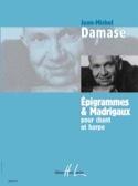 Epigrammes et Madrigaux Jean-Michel Damase Partition laflutedepan.com