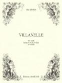 Villanelle Mel Bonis Partition Mélodies - laflutedepan.com