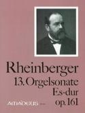 Sonate N° 13 Op. 161 Joseph Rheinberger Partition laflutedepan.com