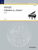 Präludien Zu Tristan Hans Werner Henze Partition Piano - laflutedepan