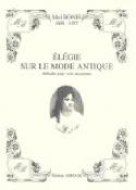 Elégie sur le Mode Antique Mel Bonis Partition laflutedepan.com