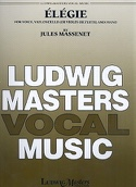 Elégie Jules Massenet Partition Violoncelle - laflutedepan.com