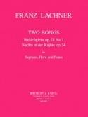 2 Songs Franz Lachner Partition Cor - laflutedepan.com