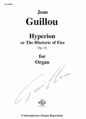 Hyperion Opus 45 Jean Guillou Partition Orgue - laflutedepan