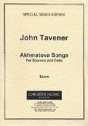 Akhmatova Songs John Tavener Partition Violoncelle - laflutedepan.com