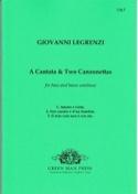 1 Cantata & 2 Canzonettas Giovanni Legrenzi Partition laflutedepan.com