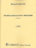 Etudes Dans le Style Hongrois Livre 2 Michel Sogny laflutedepan.com