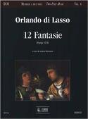 12 Fantasie Orlando di Lassus Partition Duos - laflutedepan.com