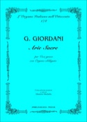 Arie Sacre - Giuseppe Giordani - Partition - laflutedepan.com