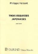 Trois Esquisses Japonaises Philippe Hersant Partition laflutedepan