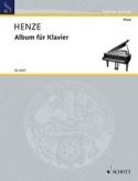 Album pour piano Hans Werner Henze Partition Piano - laflutedepan