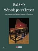 Méthode pour Clavecin Enrico Baiano Partition laflutedepan.com