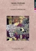 Trois poèmes op. 304 Leonello Capodaglio Partition laflutedepan.com