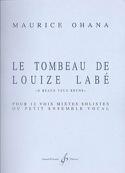 Le Tombeau de Louize Labé Maurice Ohana Partition Chœur - laflutedepan