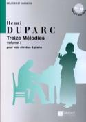13 Mélodies. Voix Haute Henri Duparc Partition laflutedepan.com