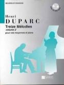 13 Mélodies. Voix Moyenne Henri Duparc Partition laflutedepan.com
