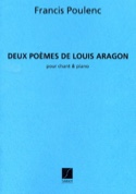 2 Poèmes d'Aragon - Francis Poulenc - Partition - laflutedepan.com