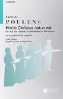 Hodie Christus Natus Est Francis Poulenc Partition laflutedepan.com