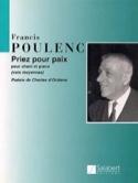 Priez Pour Paix Francis Poulenc Partition Mélodies - laflutedepan.com