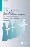 Tristis est anima mea Francis Poulenc Partition laflutedepan.com