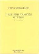 3 Irish Folksongs Settings John Corigliano Partition laflutedepan.com