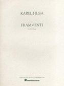 Frammenti Karel Husa Partition Orgue - laflutedepan.com
