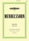 Duette. 19 Duos Félix MENDELSSOHN Partition Duos - laflutedepan.com