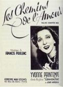 Les Chemins de l'Amour Francis Poulenc Partition laflutedepan.com