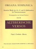 Altiberische Versos Volume 3 Partition Orgue - laflutedepan.com