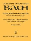 Ausgewählte Duette Sopran und Alt Volume 2 BACH laflutedepan.com