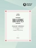 Deutsche Volkslieder, Voix Grave Volume 1 BRAHMS laflutedepan.com