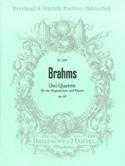 3 Quartette Opus 64 BRAHMS Partition Chœur - laflutedepan.com