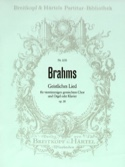 Geistliches Lied Opus 30 BRAHMS Partition Chœur - laflutedepan