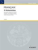 9 Historiettes - Jean Françaix - Partition - laflutedepan.com