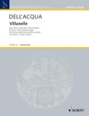 Villanelle. Acqua Eva Dell' Partition Violoncelle - laflutedepan.com