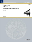Lucy Escott Variations Hans Werner Henze Partition laflutedepan